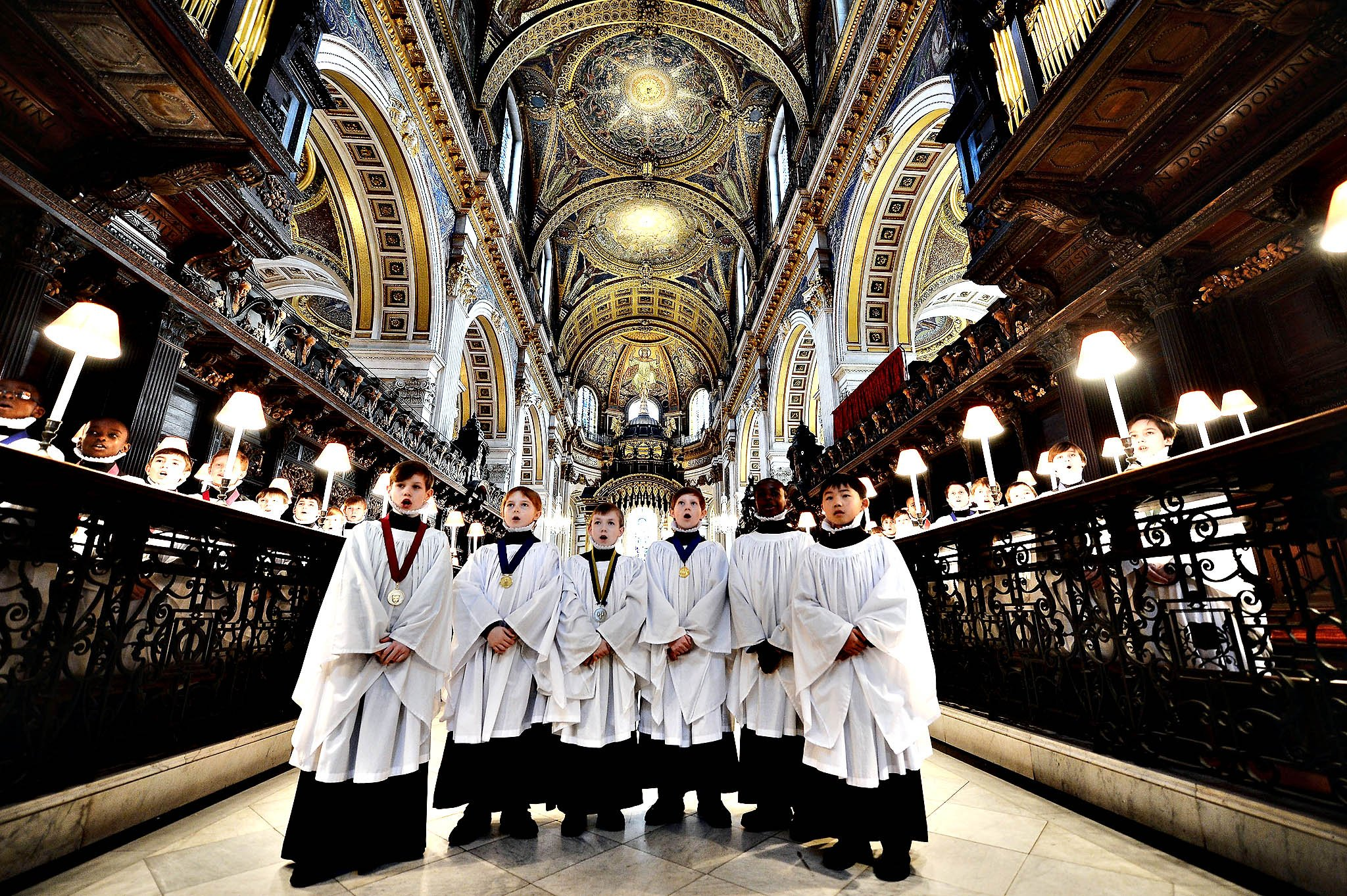St Paul's Choristers Prepare For The Christmas Services...LONDON